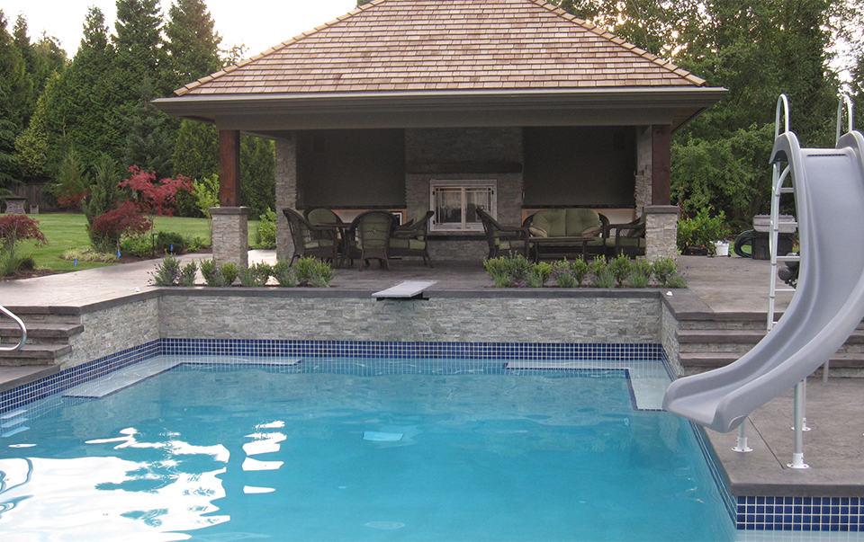 Custom Swimming Pool Slide Azuro Concepts