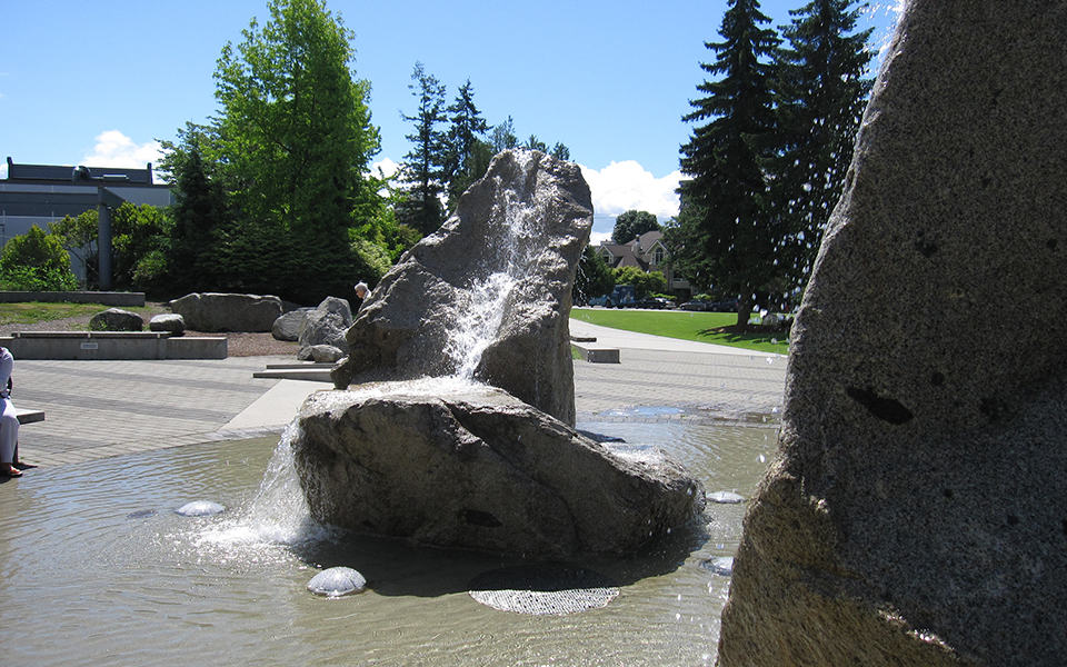 Community Centre water feature in West Vancouver