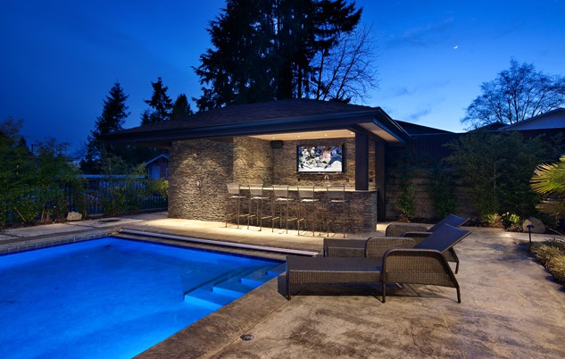 Poolside custom bar