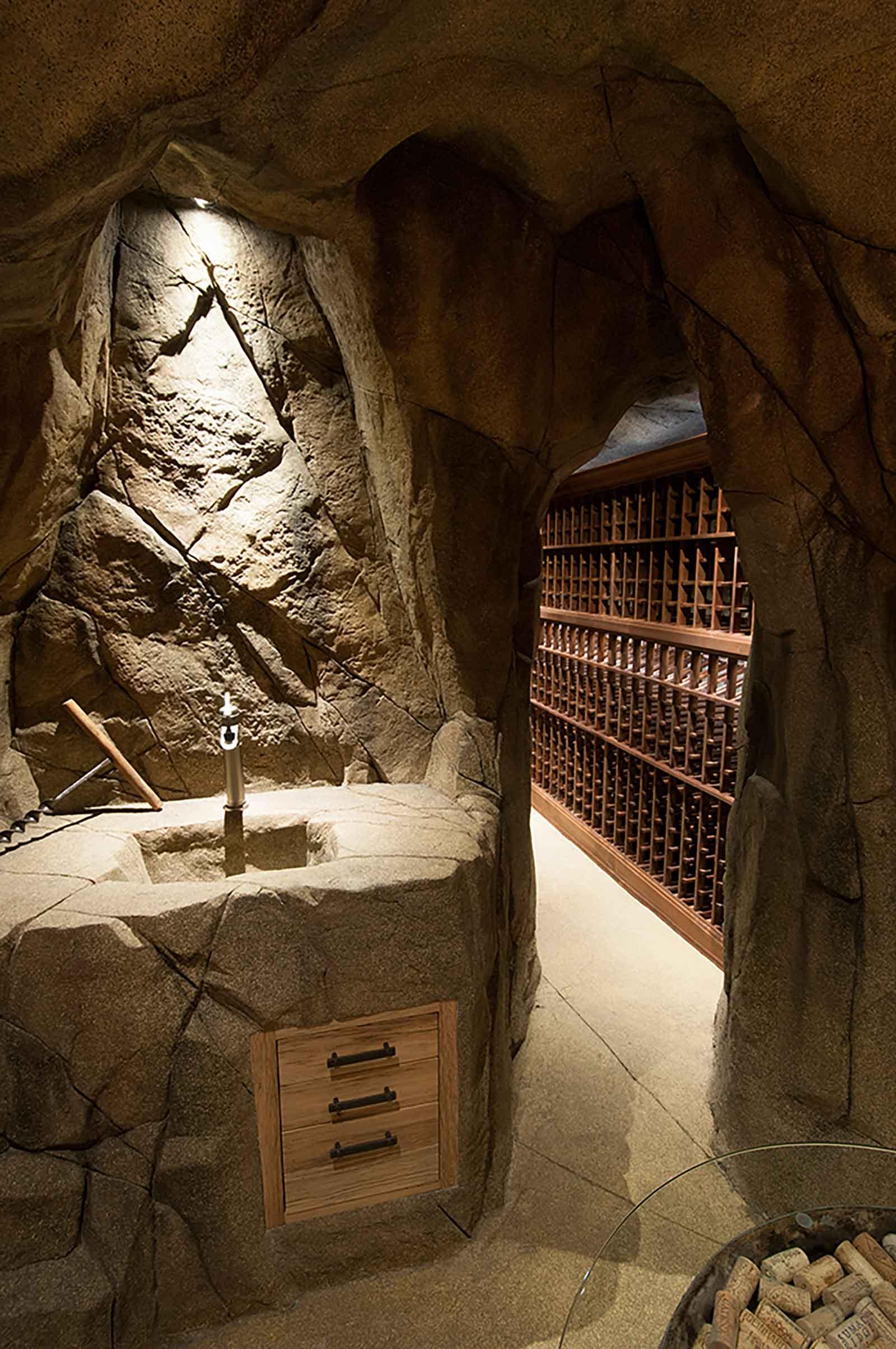 Authentic custom built wine cave