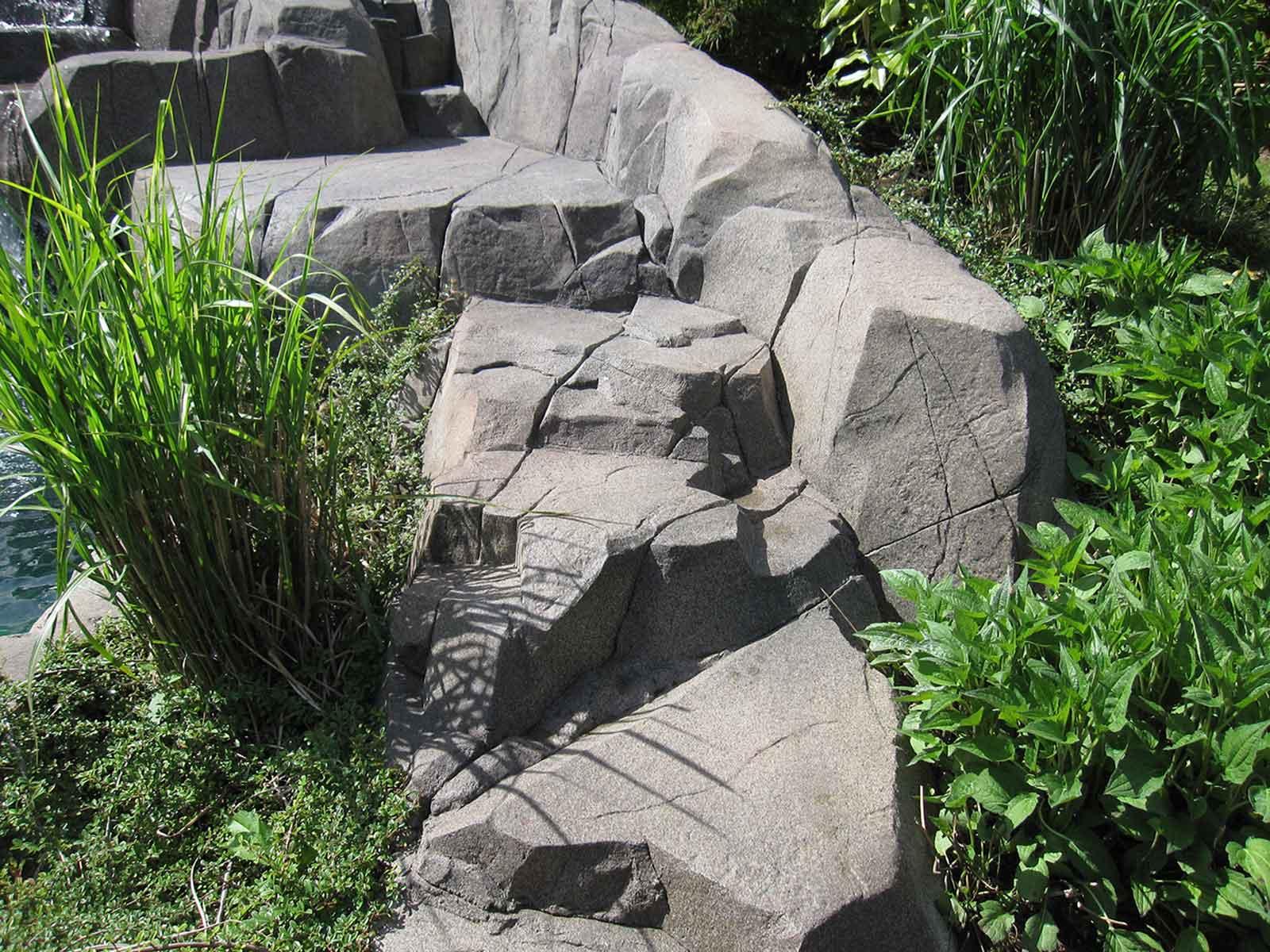 Backyard rock work