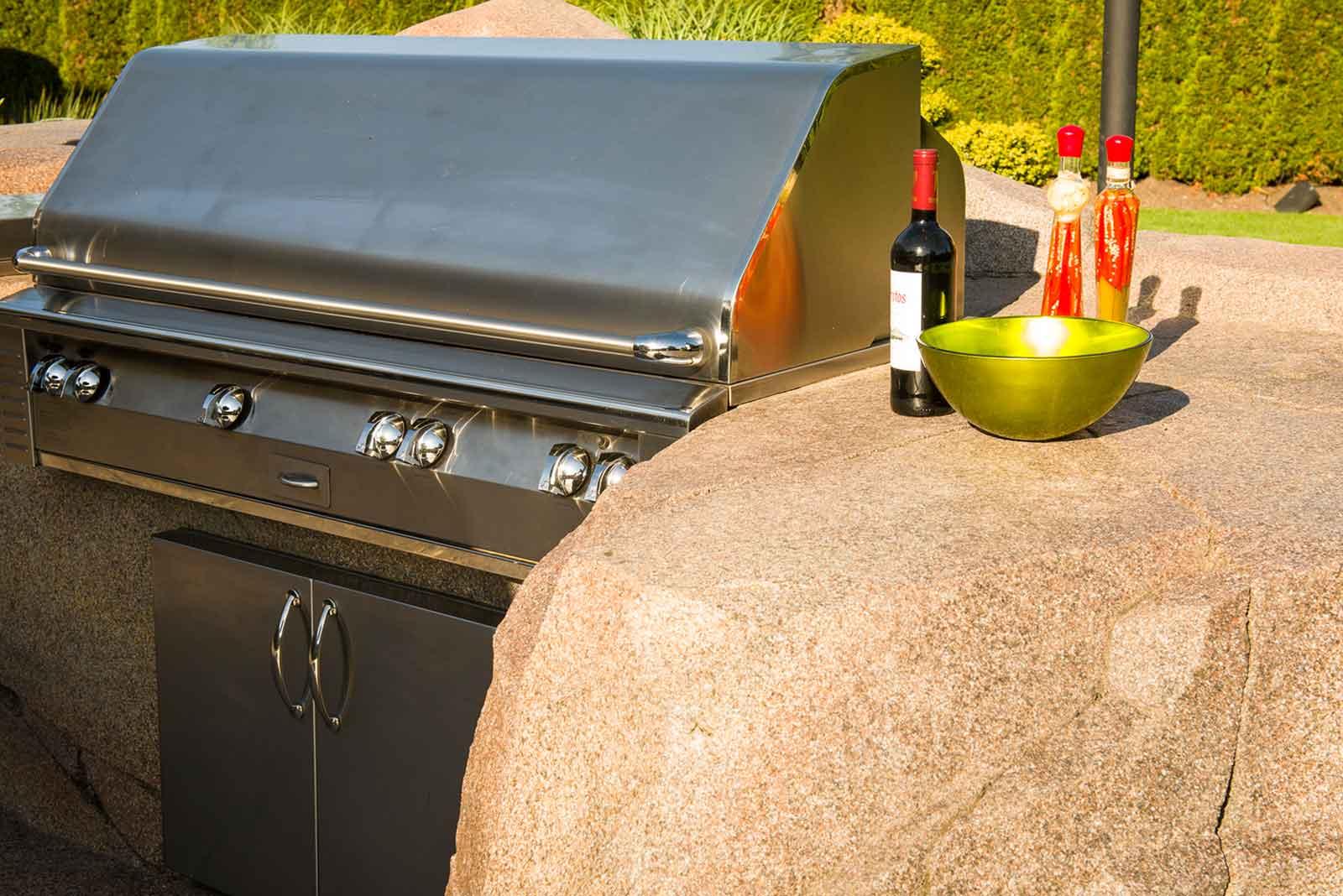 Custom designed outdoor concrete counters