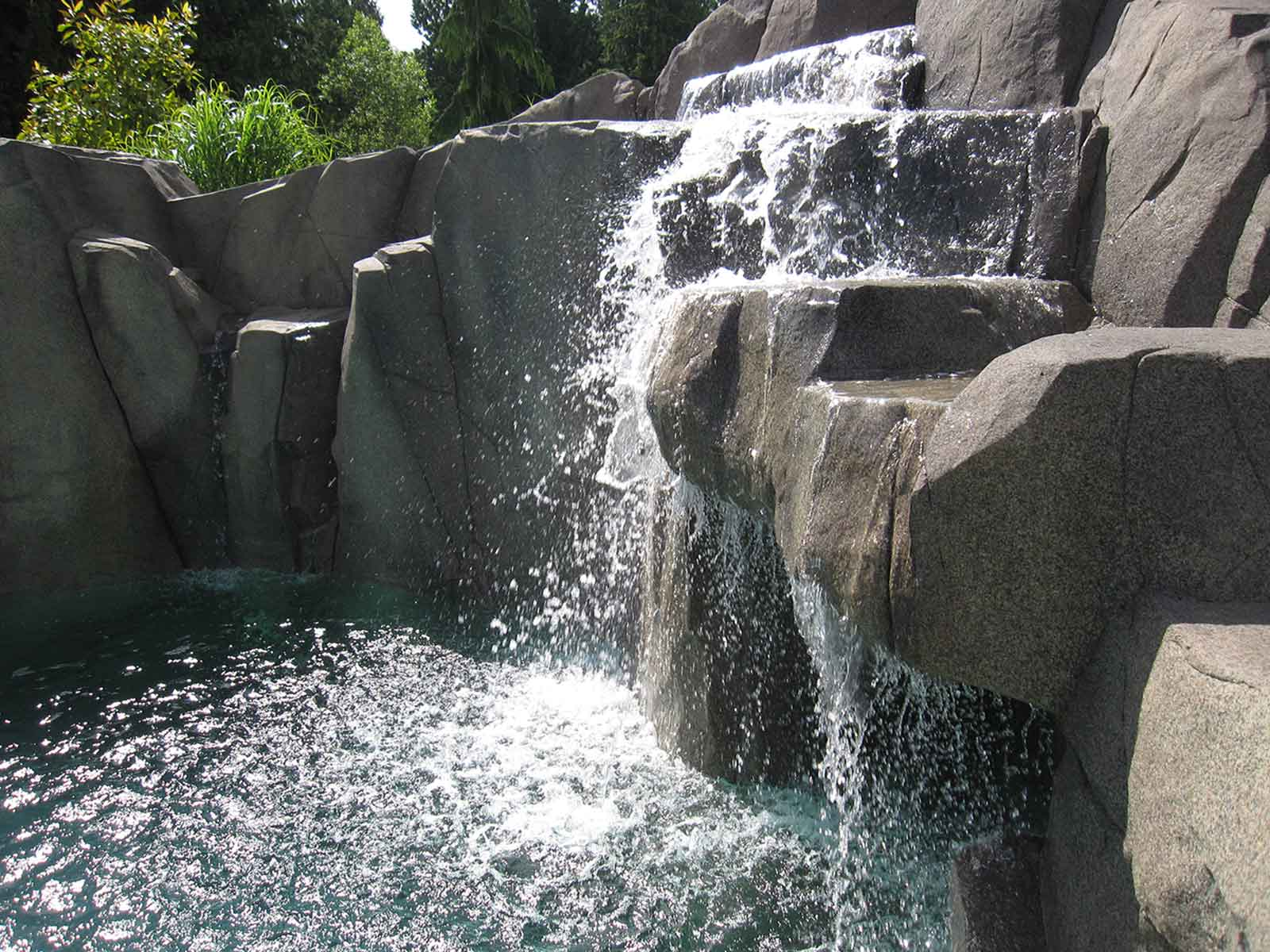 Concrete water fall