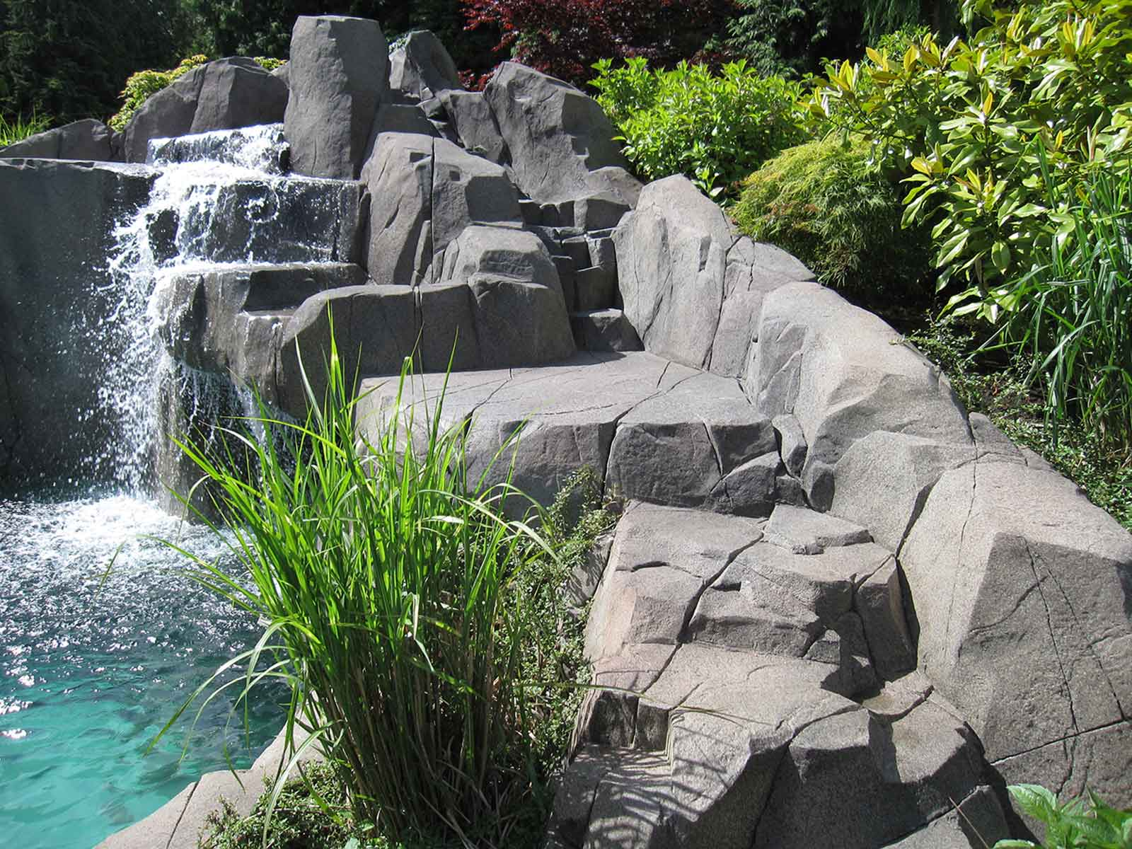 Custom designed waterfall
