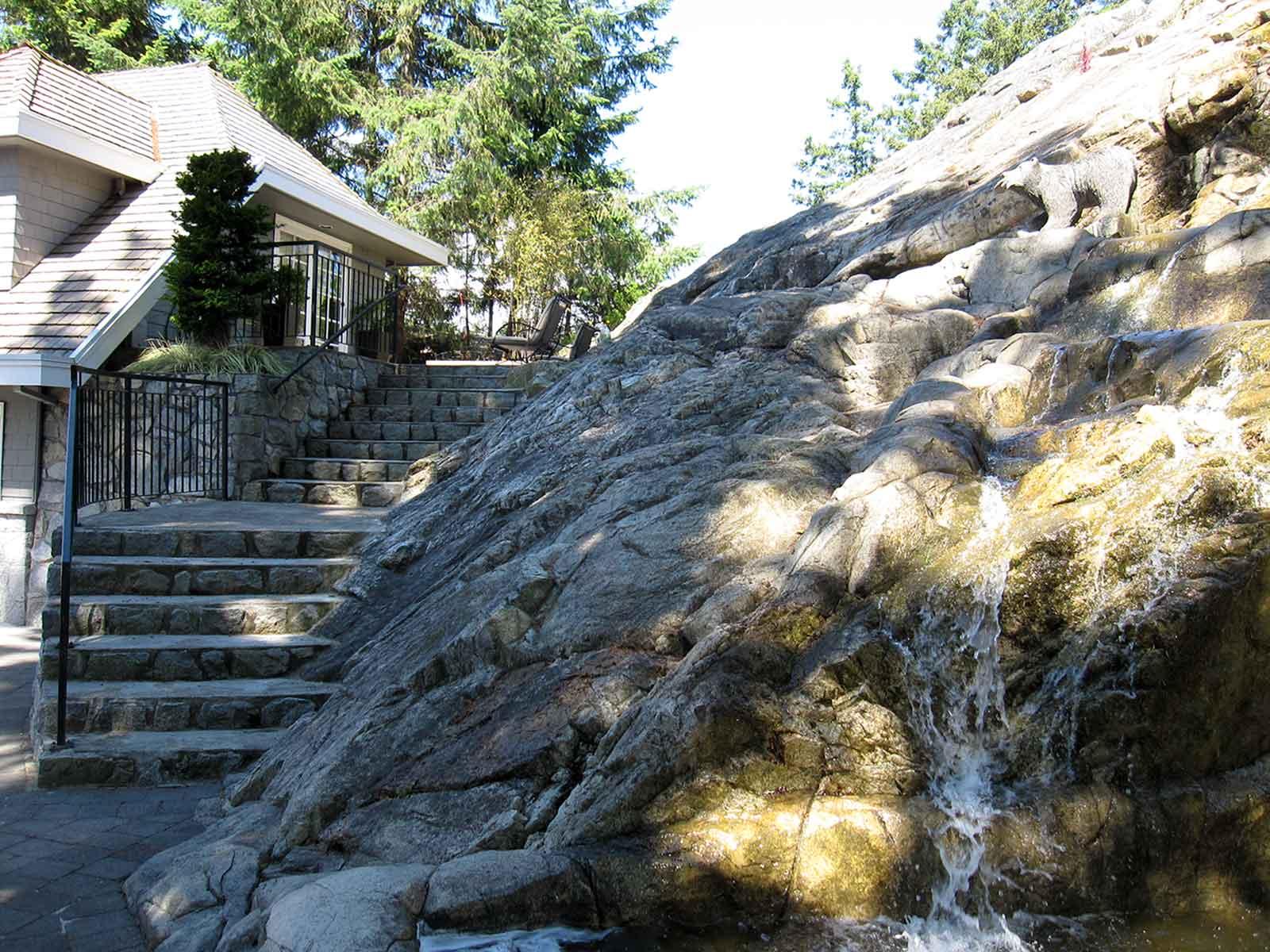 Authentic custom built concrete steps