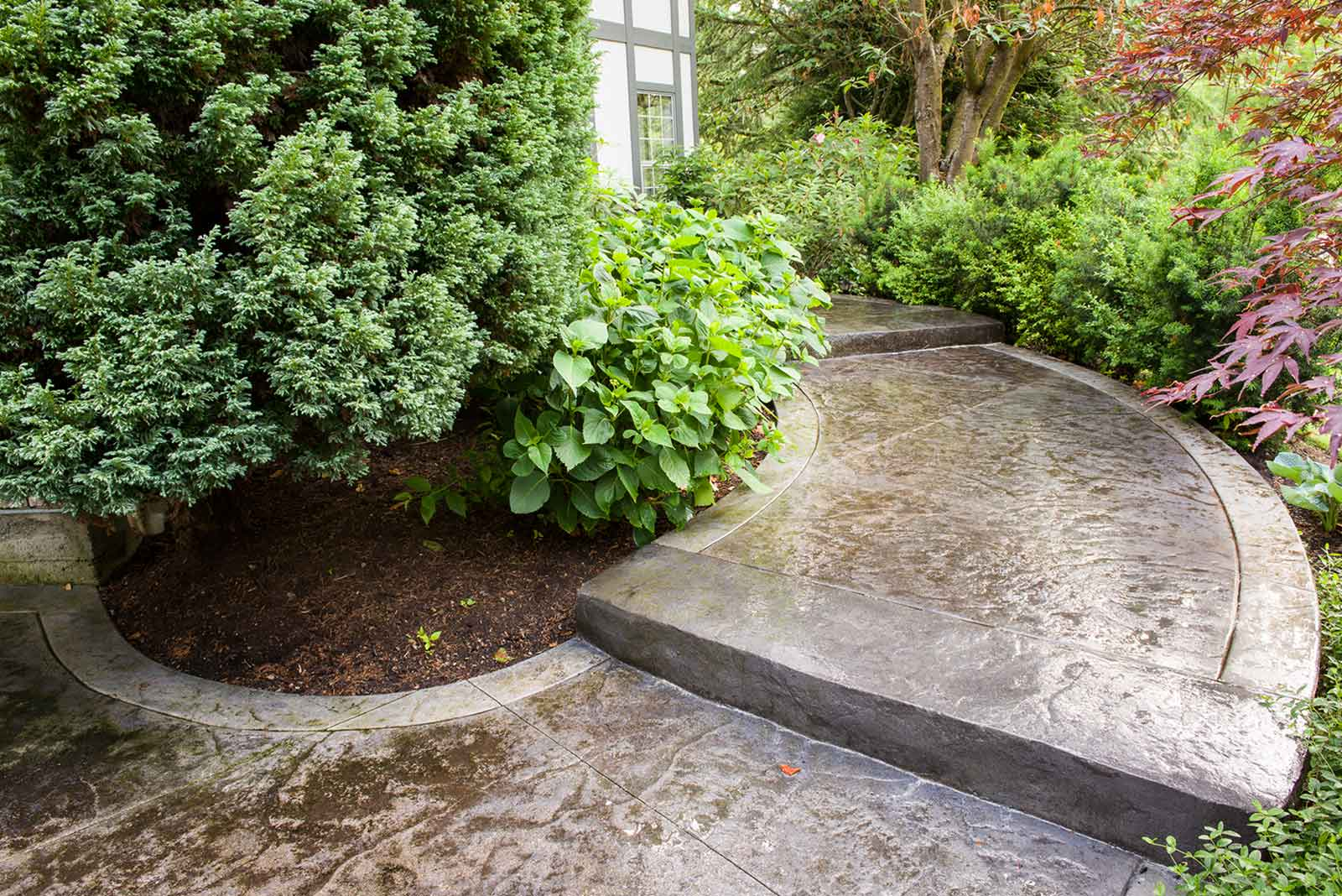 Custom built concrete pathway