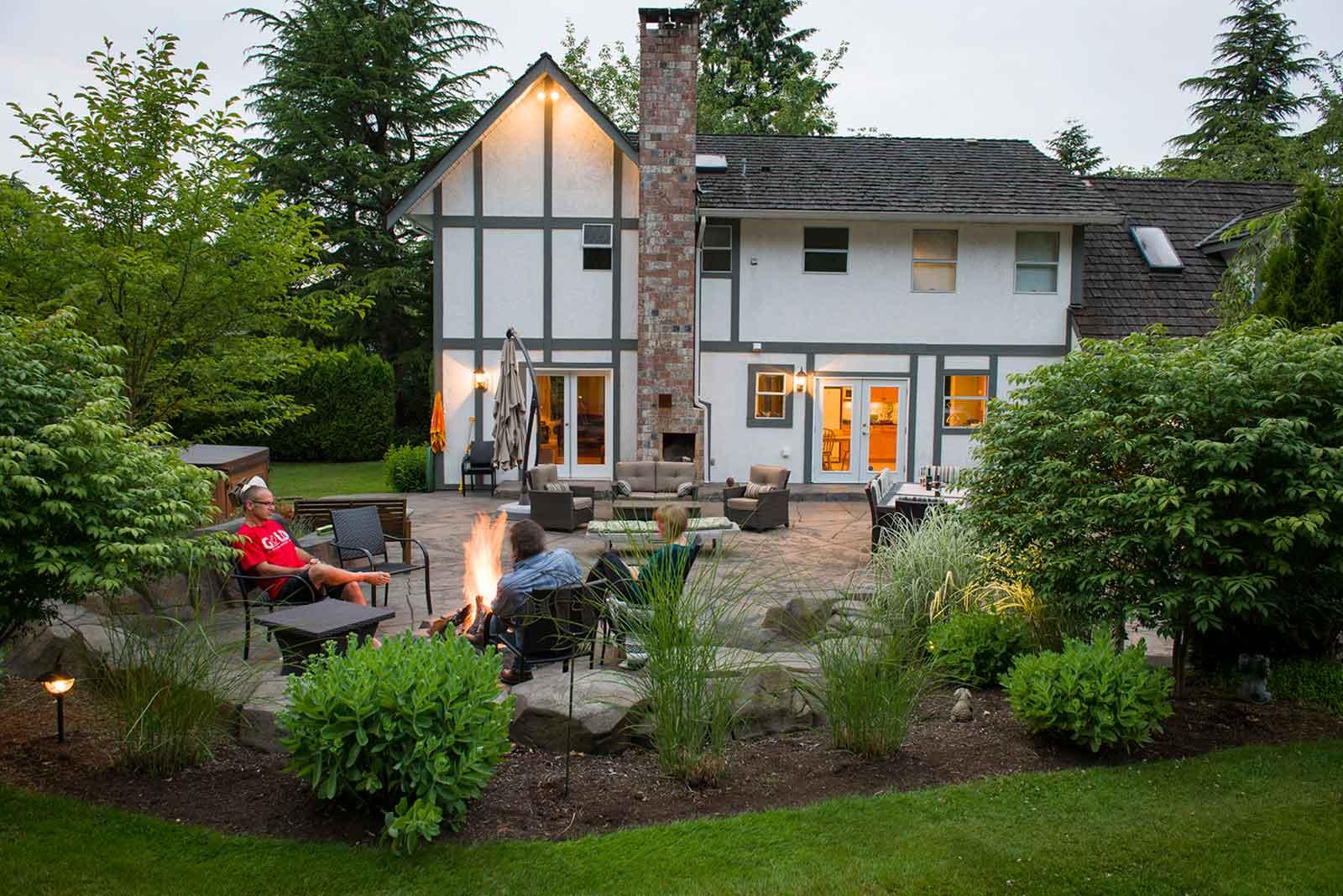 Custom designed and renovated family backyard