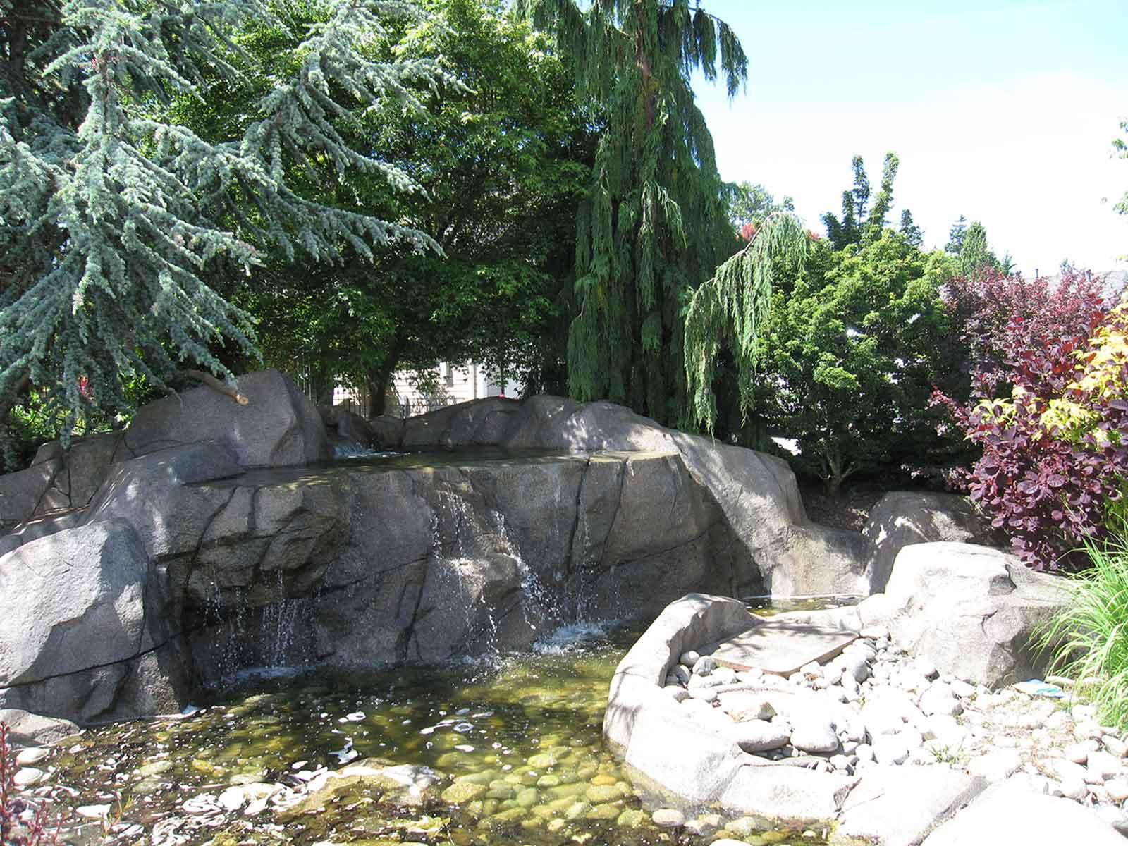 Front yard waterfall