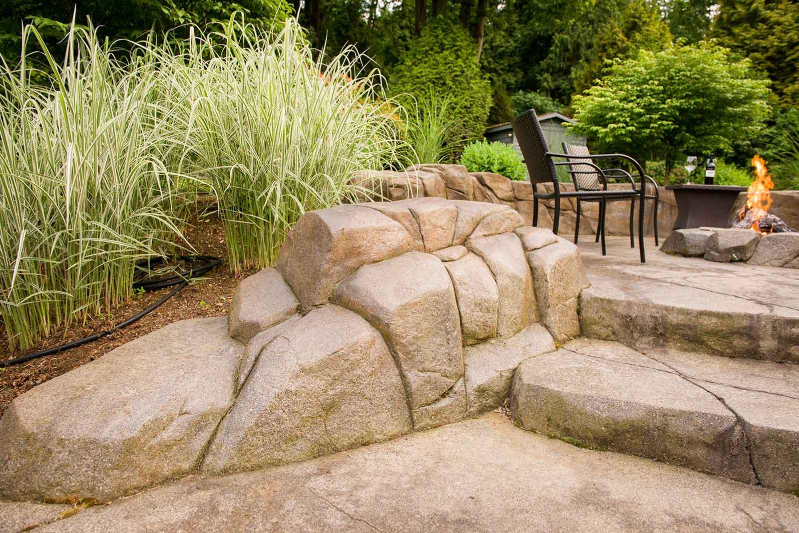 High strength concrete rock work