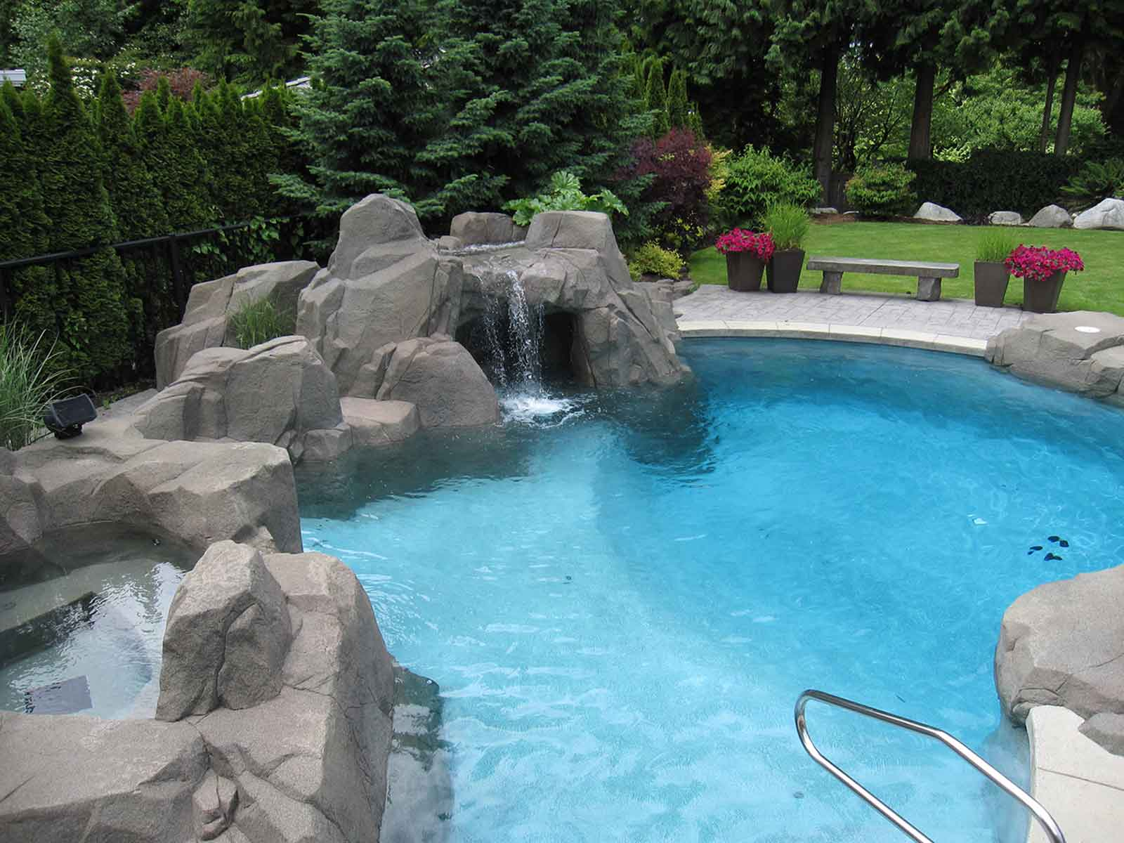One of a kind in-ground swimming pool
