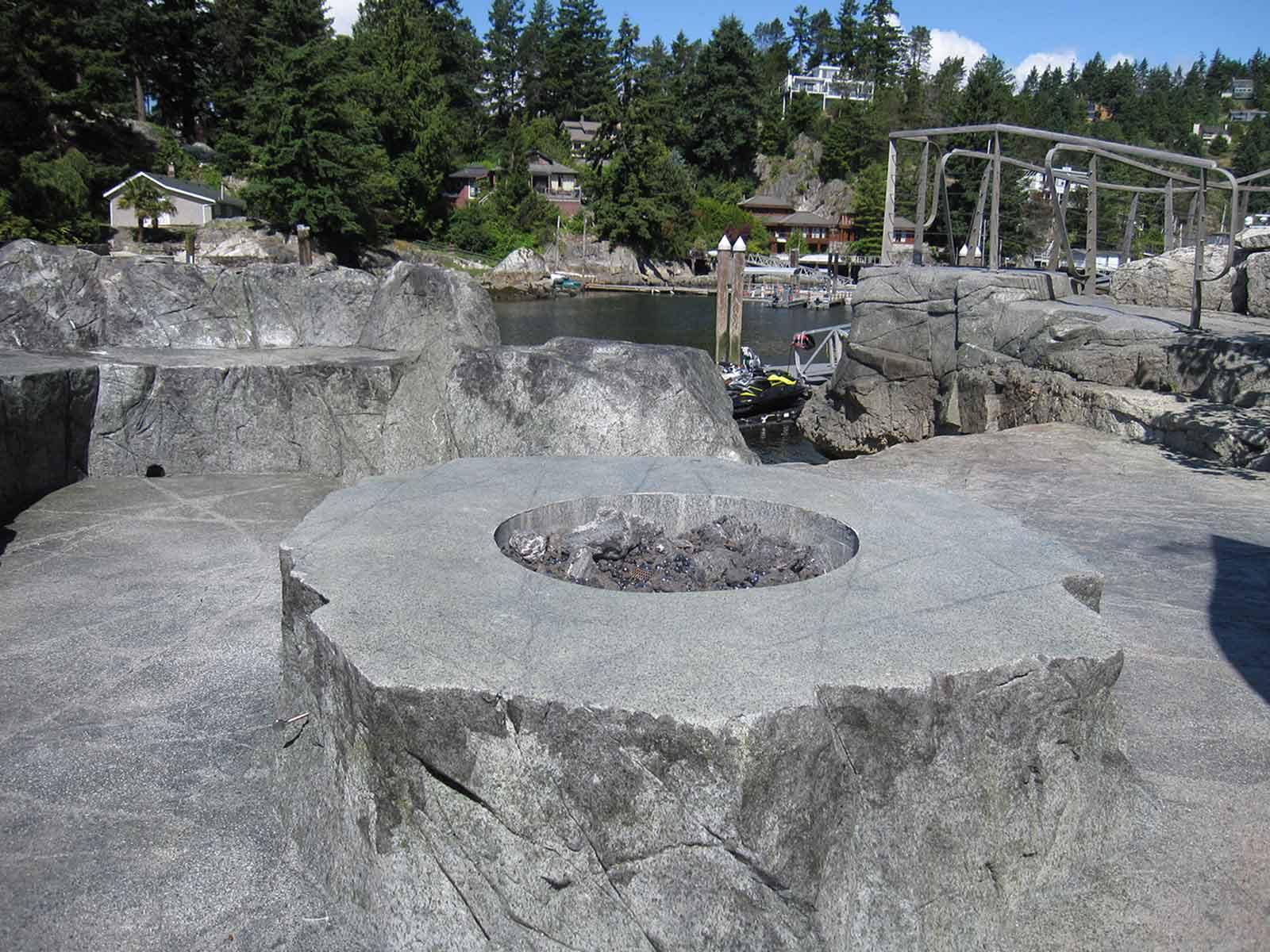 Concrete custom designed fire pit