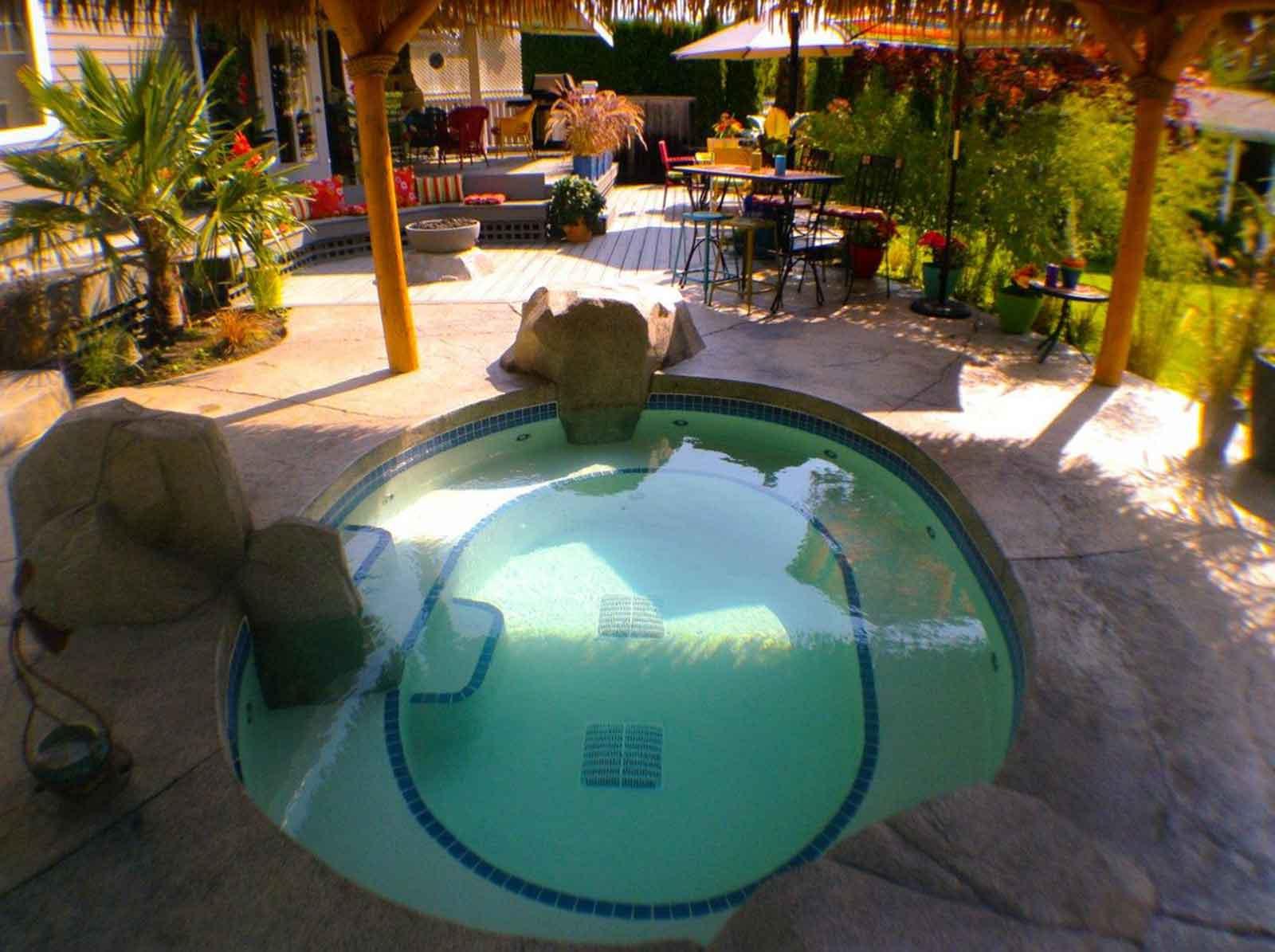 Private energy efficient hot tub