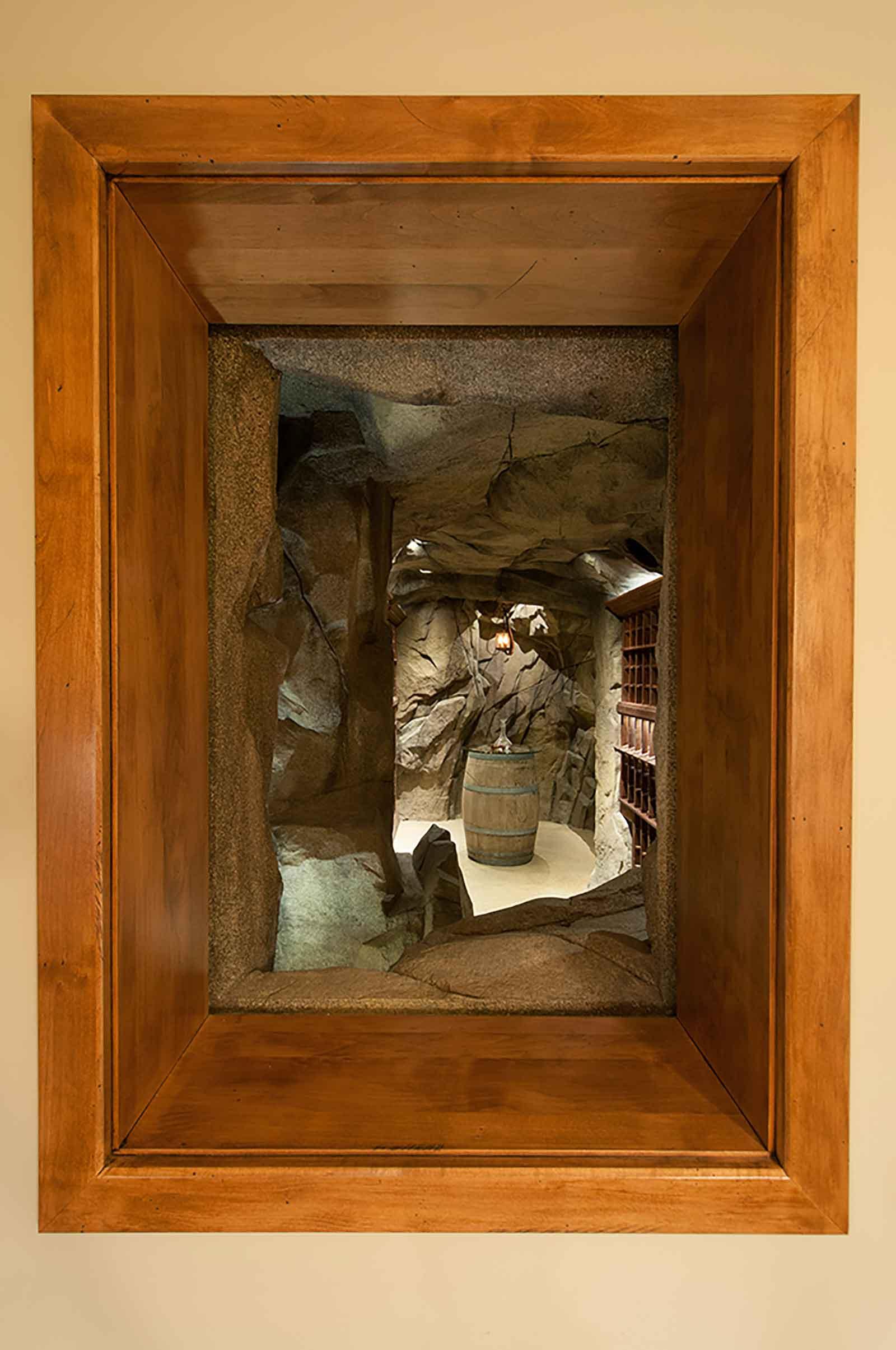 Custom built wine cave