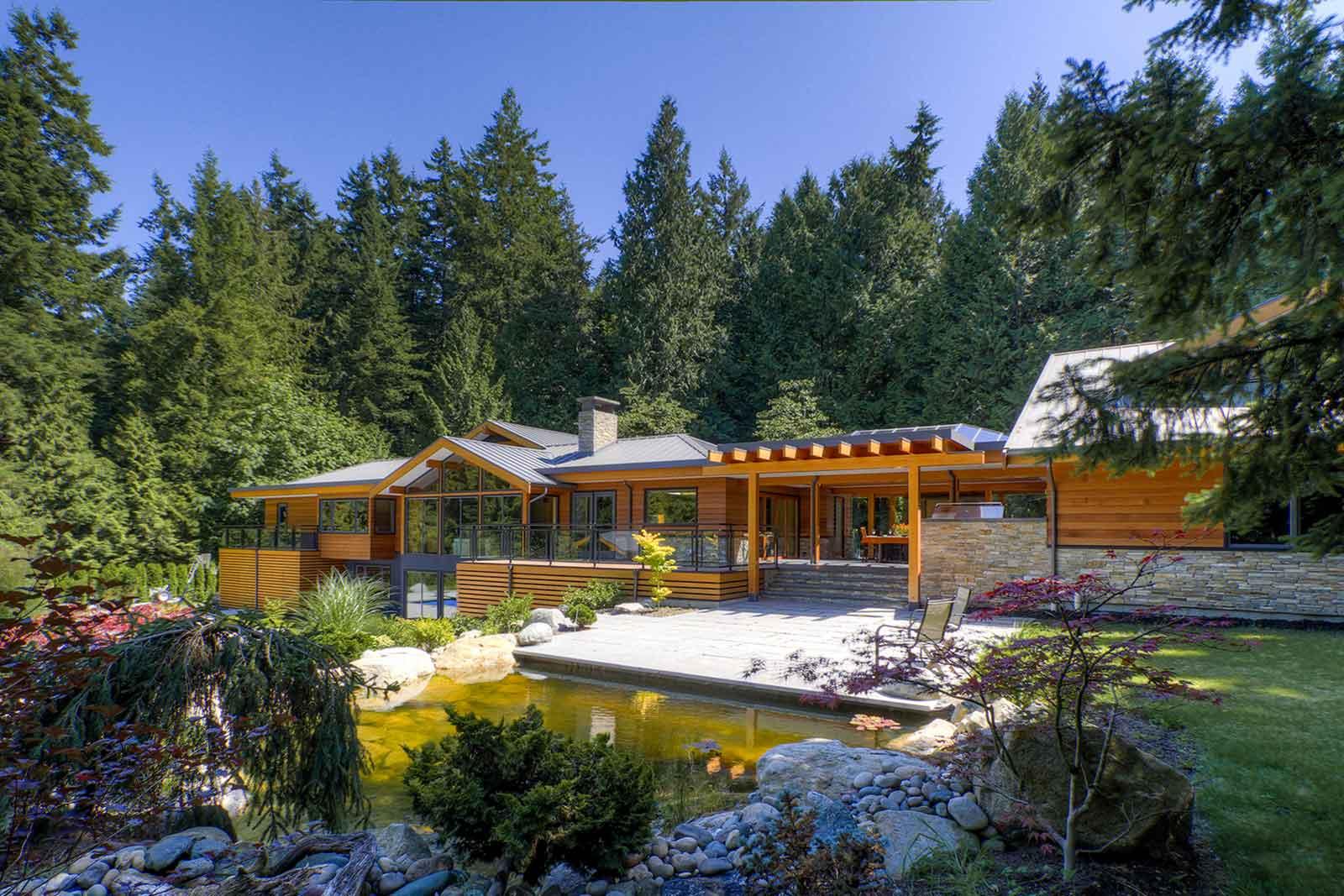 Custom designed and renovated backyard