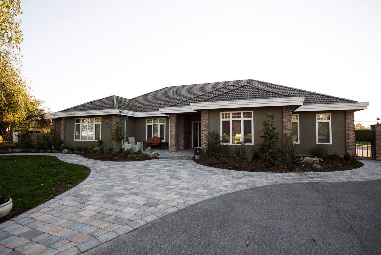 Elegant custom concrete driveway