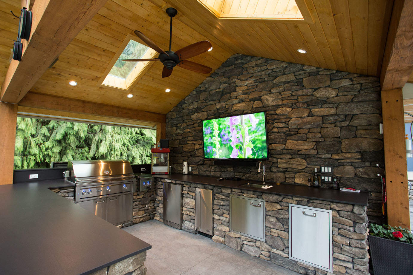 Custom designed outdoor kitchen