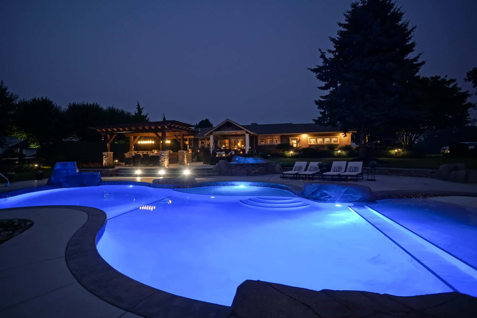 home swimming pools at night. What We Build Home Swimming Pools At Night